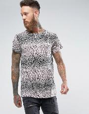 Of 66 Oversized T Shirt In Snake Print