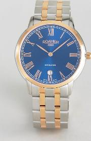 Watch With Rose Gold Detail Stainless Steel Bracelet