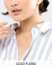 Bette Delicate Gold Plated Star Layering Pendant Necklace