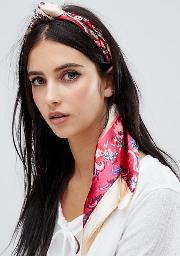multi floral headscarf
