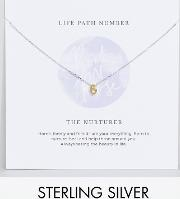 sterling silver life number 6 necklace
