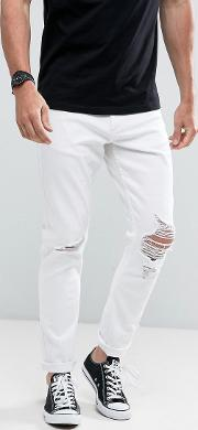 thin captain jeans flame trees white
