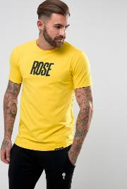 T Shirt In Yellow With Large Logo