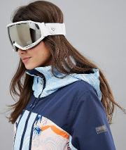 hubble white ski goggles