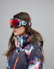 rockferry printed ski goggles