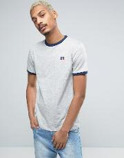 t shirt with embroidered small logo