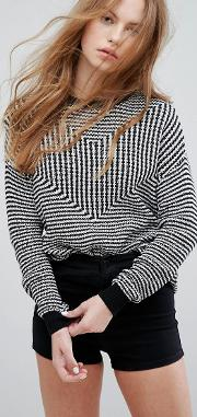 Relaxed Knit Stripe Jumper