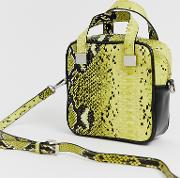 Snake Box Bag With Cross Body Strap