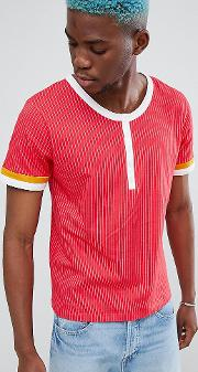 t shirt with button up neck