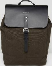 Alva Canvas & Leather Backpack In Grey