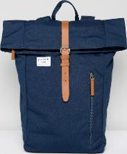 Dante Roll Top Backpack In Navy