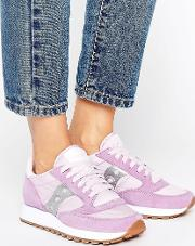 exclusive jazz original trainers  lilac & silver