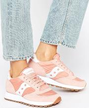Exclusive Jazz Original Trainers  Pink & White