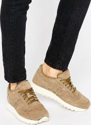 Jazz  Suede Trainers  Khaki