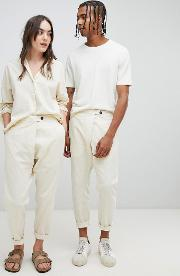 relaxed fit souke trousers in organic cotton