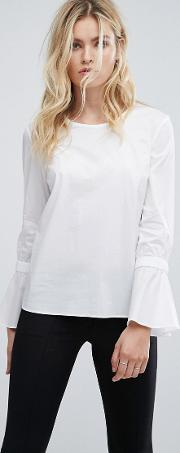 Flare Sleeved Blouse