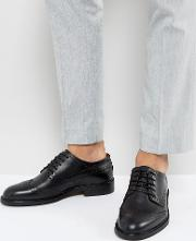 baxter leather brogue shoes in black