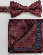 Bow Tie & Pocket Square In Paisley