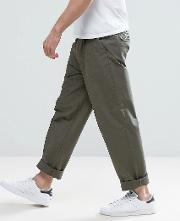 chino  wide leg with pleats