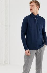 Long Sleeve Polo Shirt With Chest Pocket