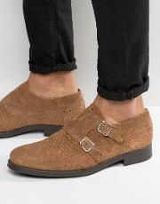 oliver woven suede monk shoes