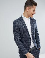 Skinny Suit Jacket Check