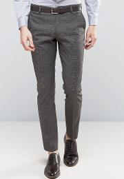 skinny suit trousers  check
