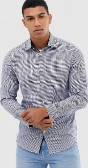 Slim Fit Easy Iron Smart Gingham Shirt