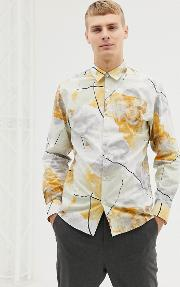 Slim Fit Shirt With All Over Floral Print