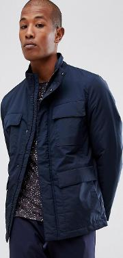 technical jacket with thinsulate lining and multimedia pocket