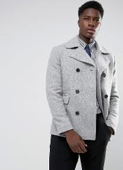 Wool Mix Peacoat