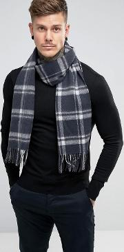 Woven Scarf With Check
