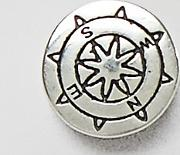 Compass Stud Earring Sterling