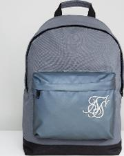 backpack in grey with reflective panel