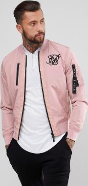 bomber jacket in pink