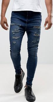 drop crotch jeans with distressing