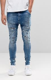 hareem jeans with thigh rips