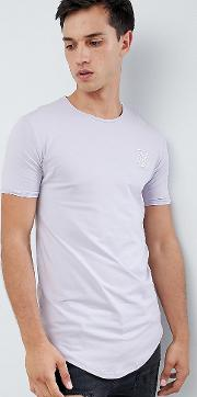 muscle t shirt in pastel purple exclusive to asos