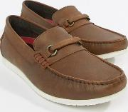 bar loafers in brown leather