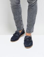 boat shoes navy suede