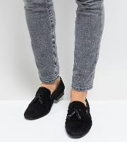 Wide Fit Patent Tassel Loafers