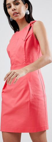 tailored dress with hardware detail