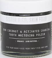 sister & co raw coconut  activated charcoal tooth whitening polish 60ml