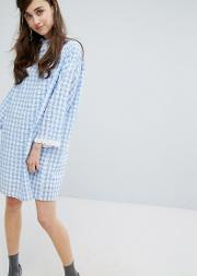 mini dress  gingham with collar