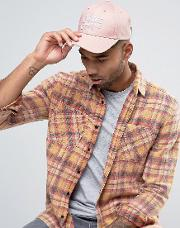 baseball cap in pink with logo