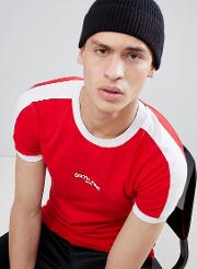 muscle t shirt in red