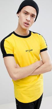 muscle t shirt in yellow