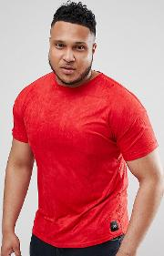 plus t shirt in red suedette