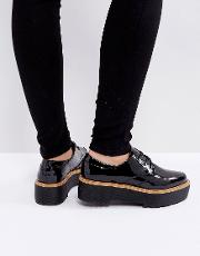 chunky sole lace up shoes