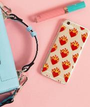 flamin' hearts iphone  case